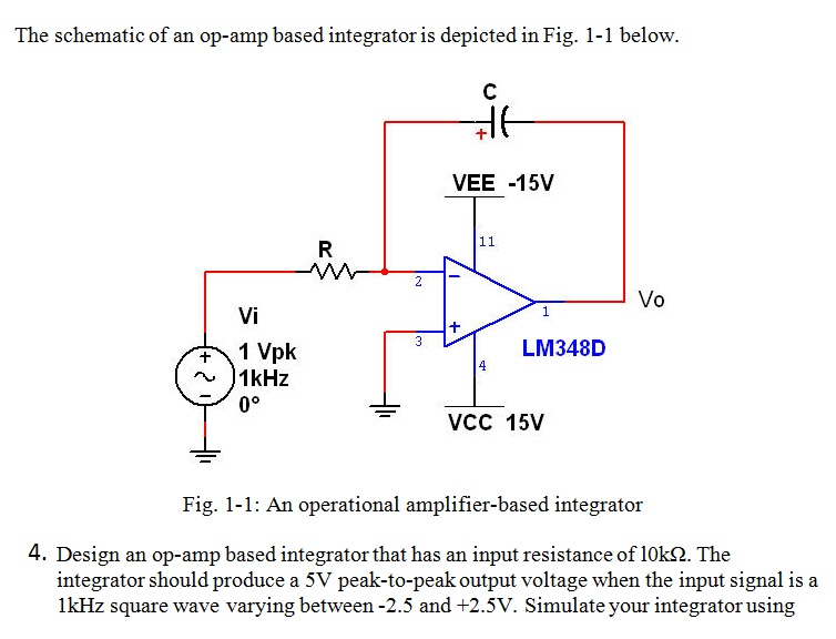 Solved: The Schematic Of An Op-amp Based Integrator Is Dep... | Chegg.com