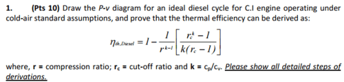 small resolution of  draw the p v diagram for an ideal diesel cycle for