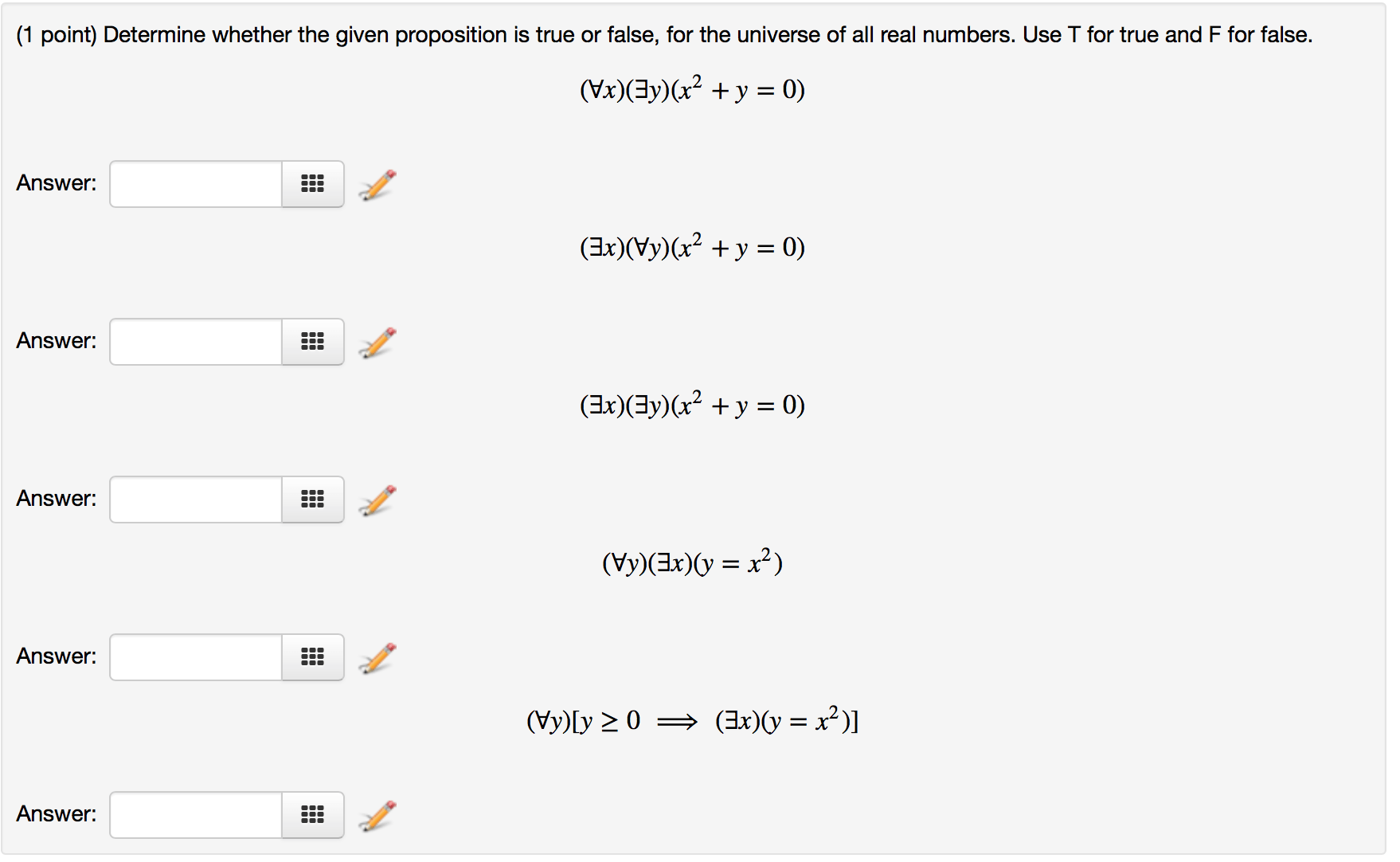 Solved: Determine Whether The Given Proposition Is True Or