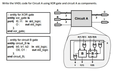 small resolution of write the vhdl code for circuit a using xor gate a