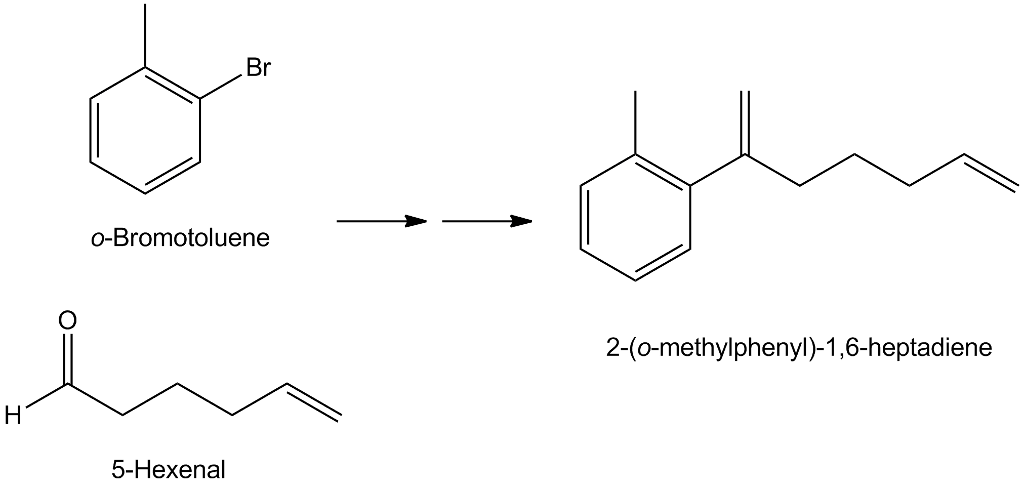 Solved: Show How 2−(o-methylphenyl)−1,6−heptadiene Can Be