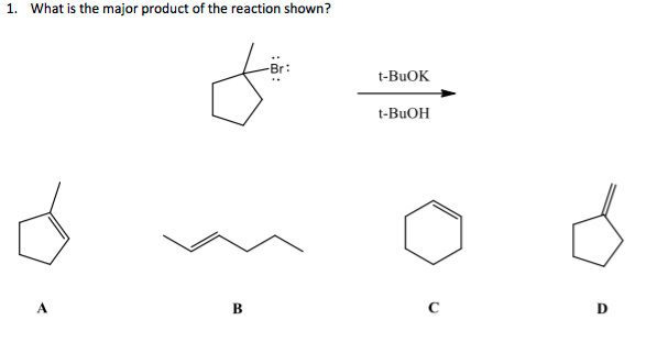 Solved: What Is The Major Product Of The Reaction Shown