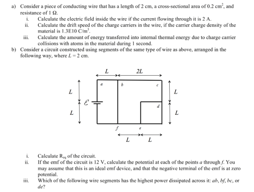 small resolution of consider a piece of conducting wire that has a length of 2 cm a cross