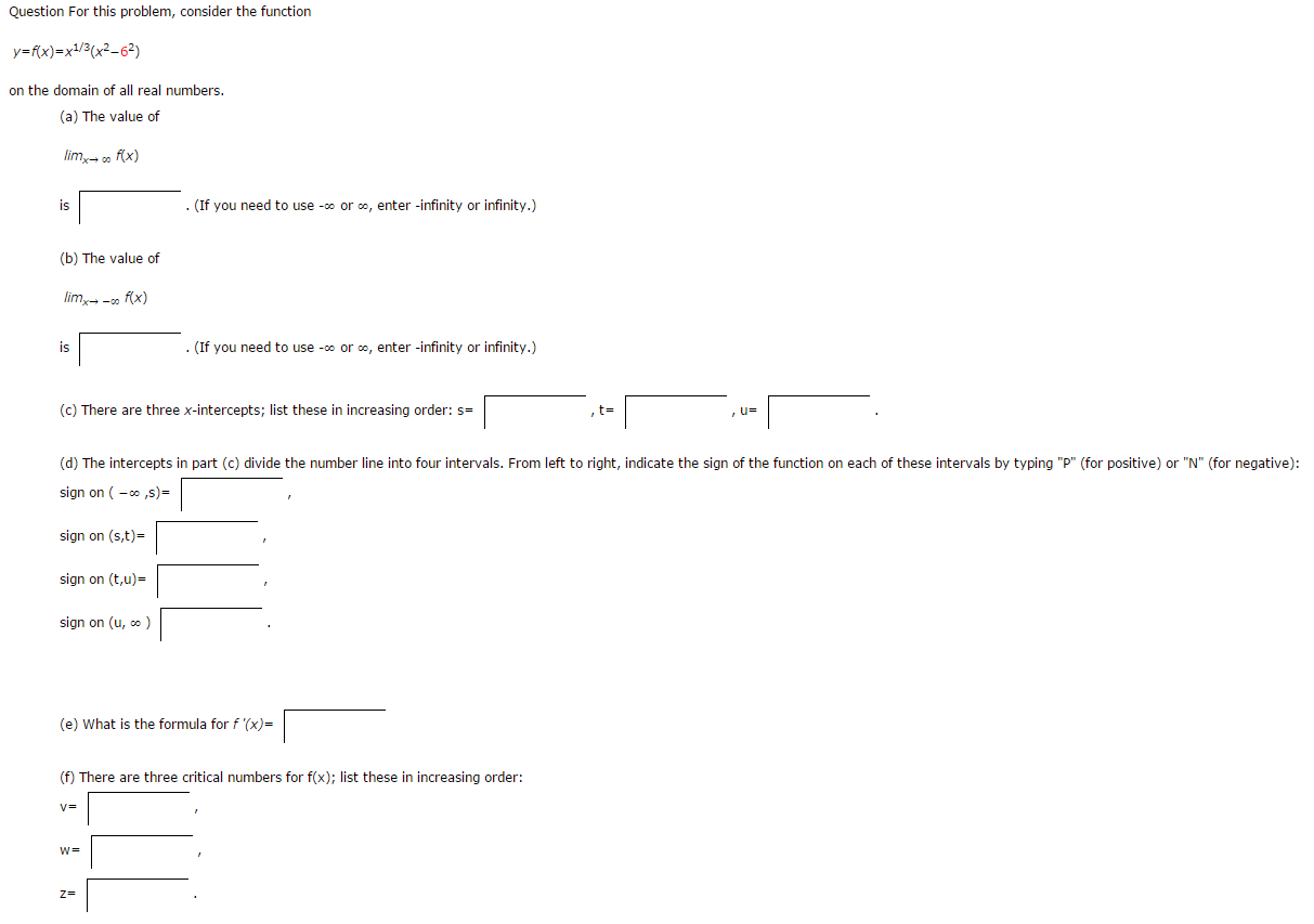 Solved Question For This Problem Consider The Function Y
