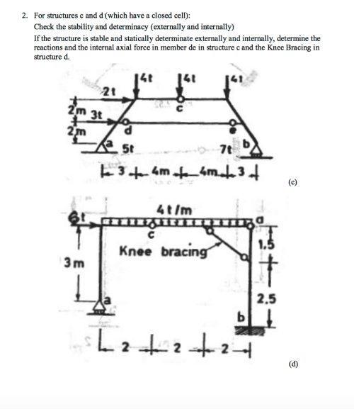 small resolution of for structures c and d which have a closed cell check the stability and