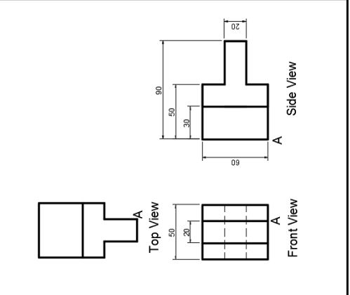 Solved: Given Orthographic Views, Draw The Isometric View