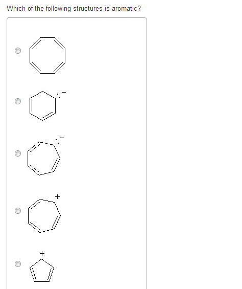Solved: Which Of The Following Structures Is Aromatic? Att