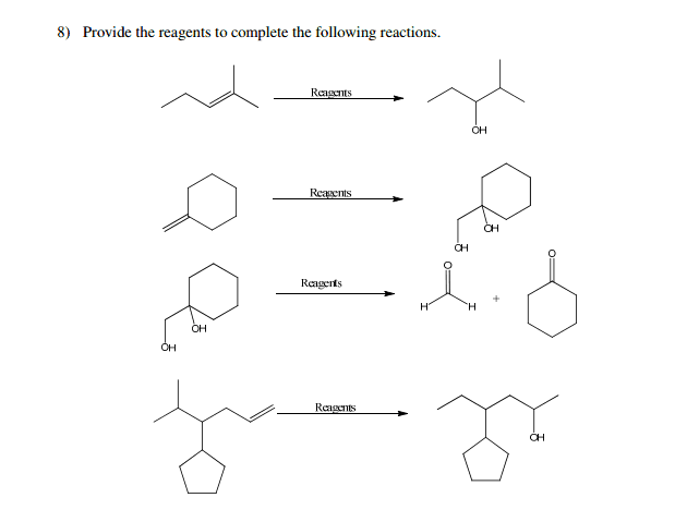 Solved: Provide The Reagents To Complete The Following Rea