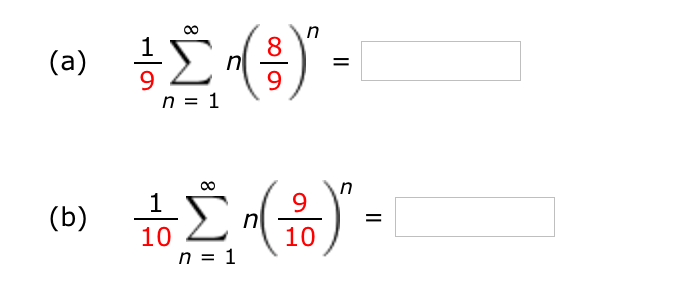 Solved: Use The Fact That 1 (1 − X)2 = ∞ Nxn−1 N = 1 To Fi