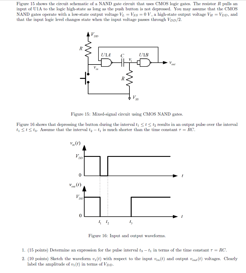 hight resolution of image for figure 15 shows the circuit schematic of a nand gate circuit that uses cmos