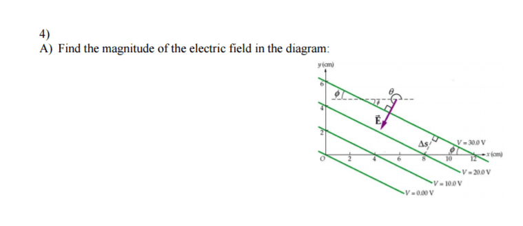 Solved: Find The Magnitude Of The Electric Field In The Di