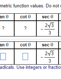 Complete the table with exact trigonometric function values do not use  calculator sin also solved functi rh chegg