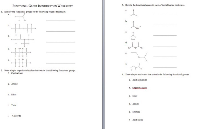 Solved: Identify The Functional Groups On The Following Or