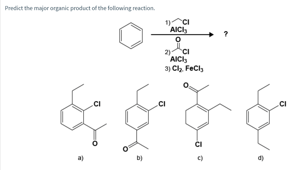 Solved: Predict The Major Organic Product Of The Following