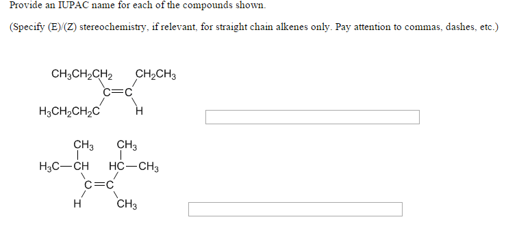 Solved: How Do You Know When To Assign E/Z When Naming Mol