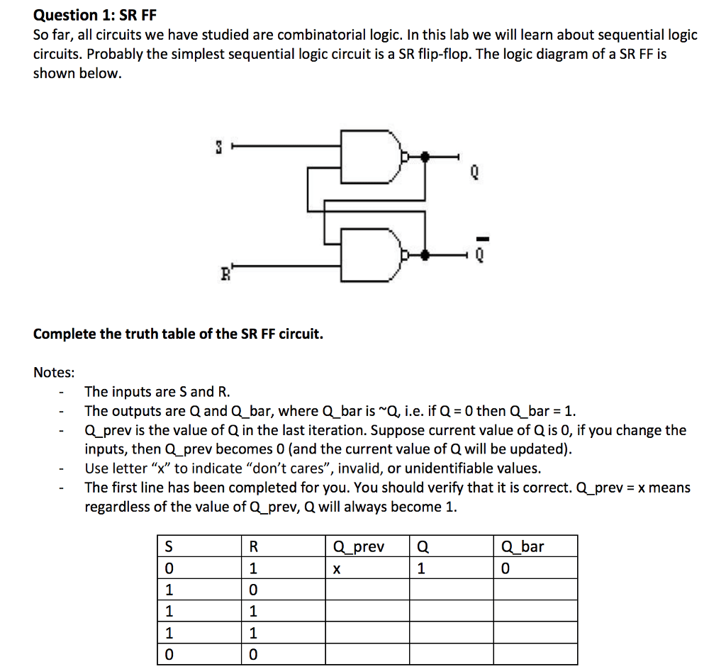 hight resolution of question 1 sr ff so far all circuits we have studied are combinatorial logic
