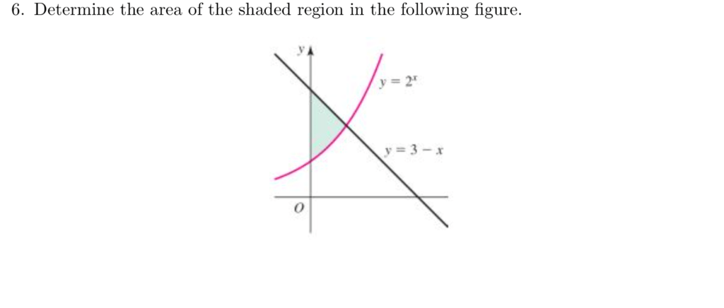 Solved: 6. Determine The Area Of The Shaded Region In The