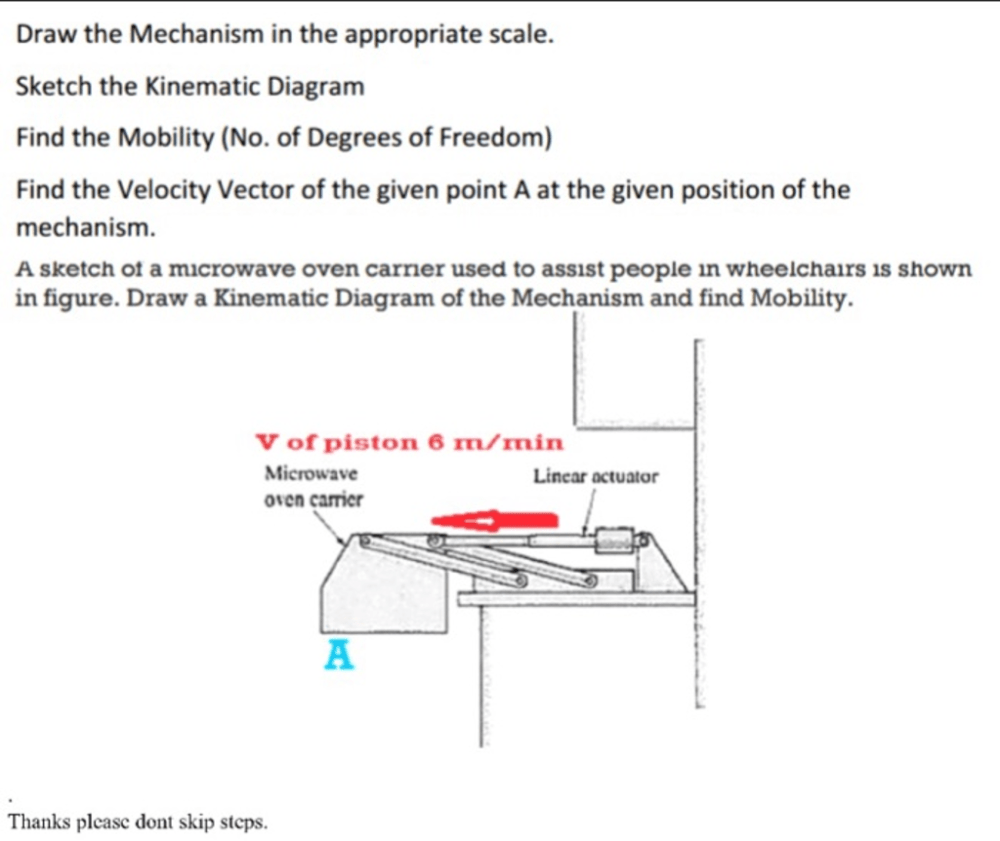 medium resolution of draw the mechanism in the appropriate scale sket please also provide velocity diagram