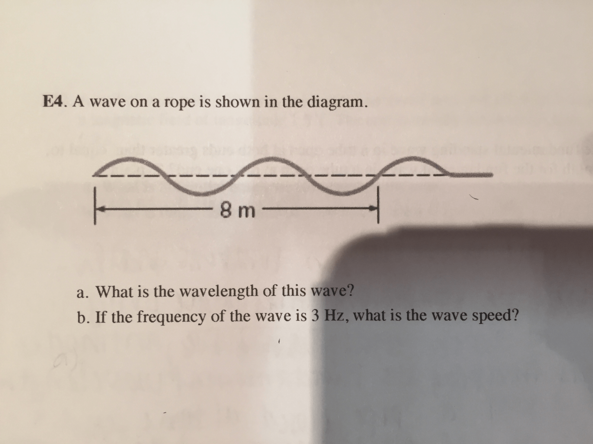 hight resolution of a wave on a rope is shown in the diagram what is