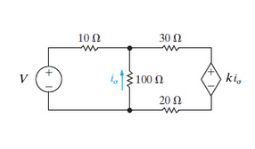 Solved: Consider The Circuit K=135 And V=160V, Use Mesh-cu