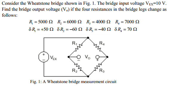 Solved: Consider The Wheatstone Bridge Shown In Fig. 1. Th