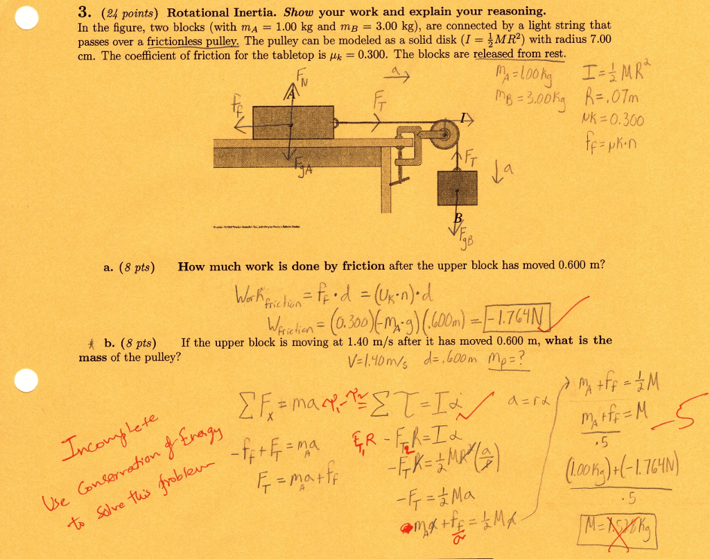 hight resolution of 3 24 points rotational inertia show your work and explain your reasoning