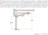 Solved: The Figure Shows The Cross Section Of A 100-kg Gar ...