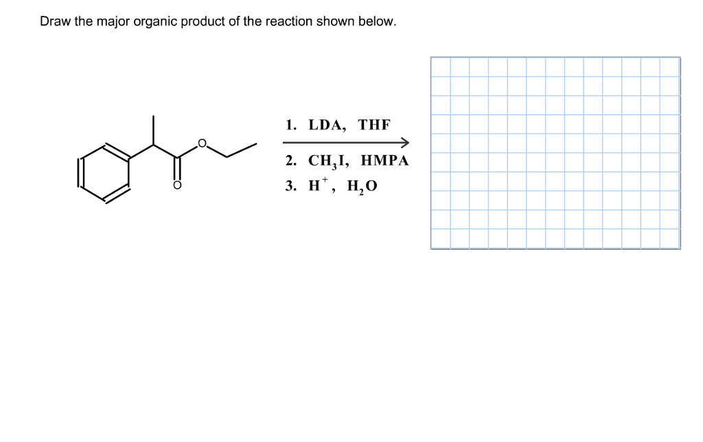 Solved: Draw The Major Organic Product Of The Reaction Sho