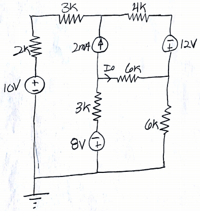 Solved: Solve The Following Circuit Using A) Thevenin's Th