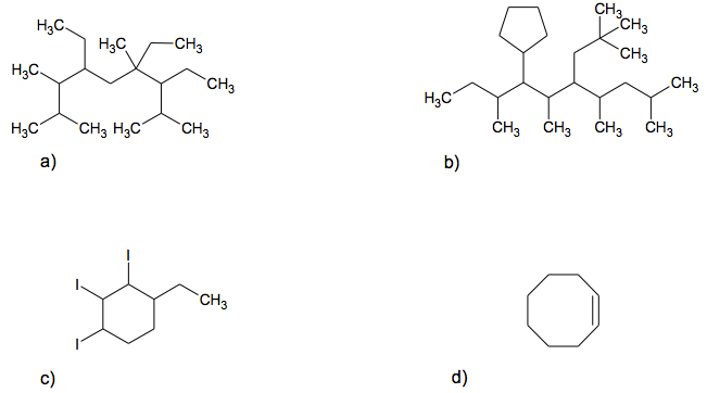Solved: Give IUPAC Names To The Following Structures