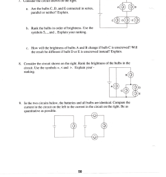 see more show transcribed image text consider the circuit shown on the ngni a are the bulbs c d and e connected in series parallel or neither  [ 2402 x 2500 Pixel ]