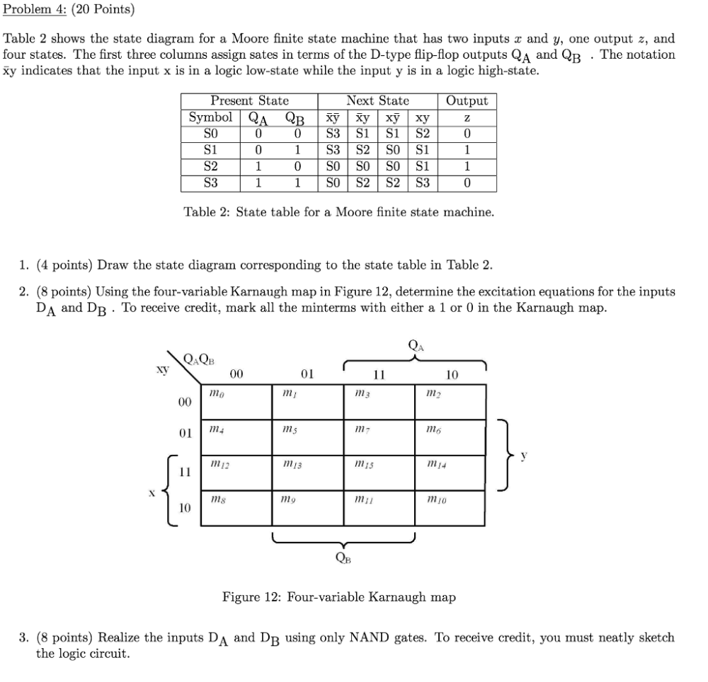 medium resolution of solved problem 4 20 points table 2 shows the state dia plc logic diagram