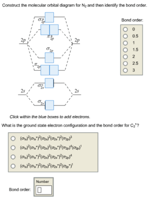 Solved: Construct The Molecular Orbital Diagram For N2 And
