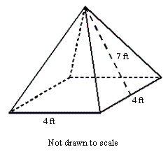 Solved: Find The Surface Area Of The Pyramid Shown To The
