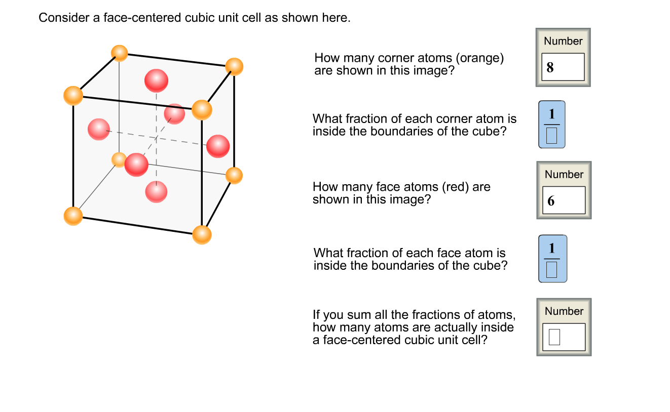 Solved Consider A Face Centered Cubic Unit Cell As Shown
