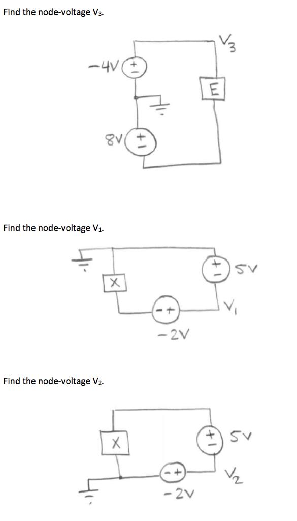 Solved: Find The Node-voltage V_3. Find The Node-voltage V