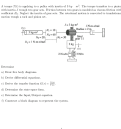 dynamic system block diagram please help with as many parts as you possibly understand main one for me is to try to get it to a block diagram and draw the  [ 924 x 877 Pixel ]