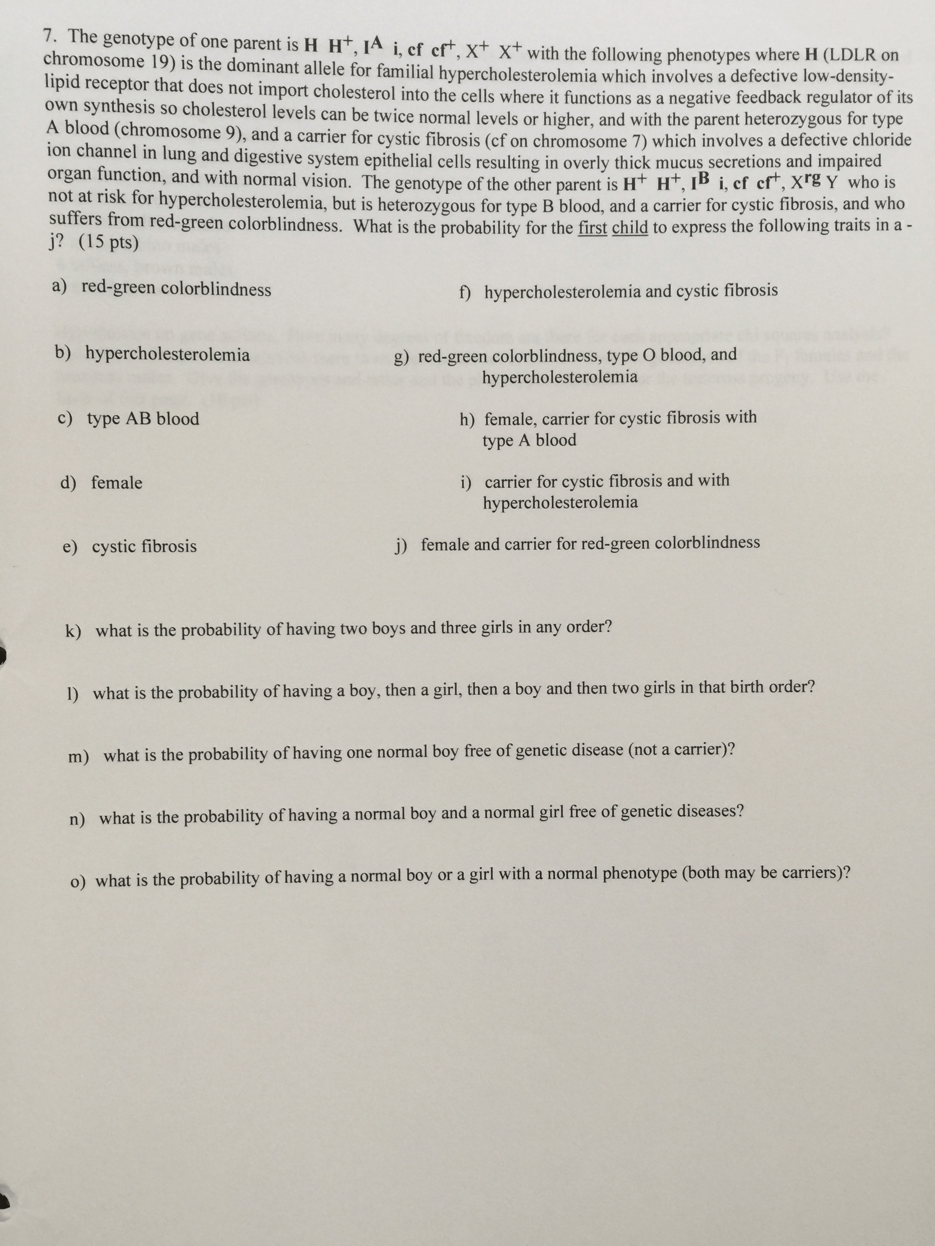 Solved Genetics Problem I Need Help Answering Any Help W