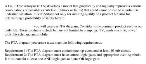 small resolution of a fault tree analysis fta develops a model that