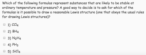 small resolution of which of the following formulas represent substanc