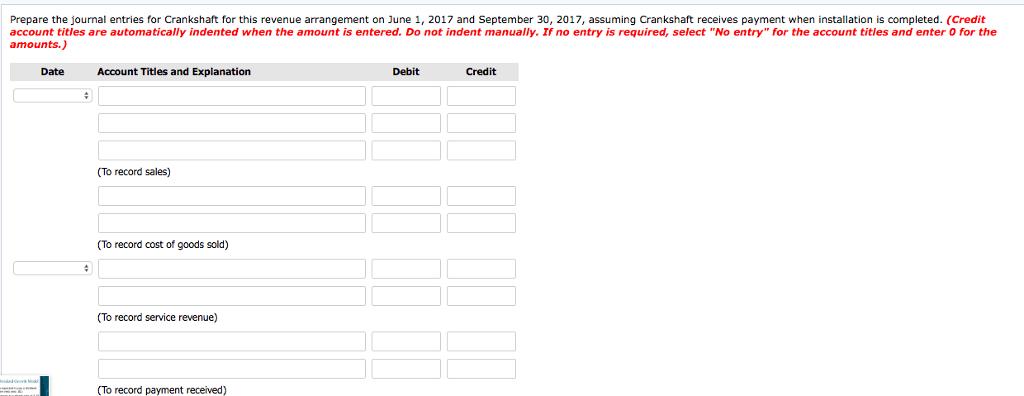 Solved: Exercise 18-13 Crankshaft Company Manufactures Equ