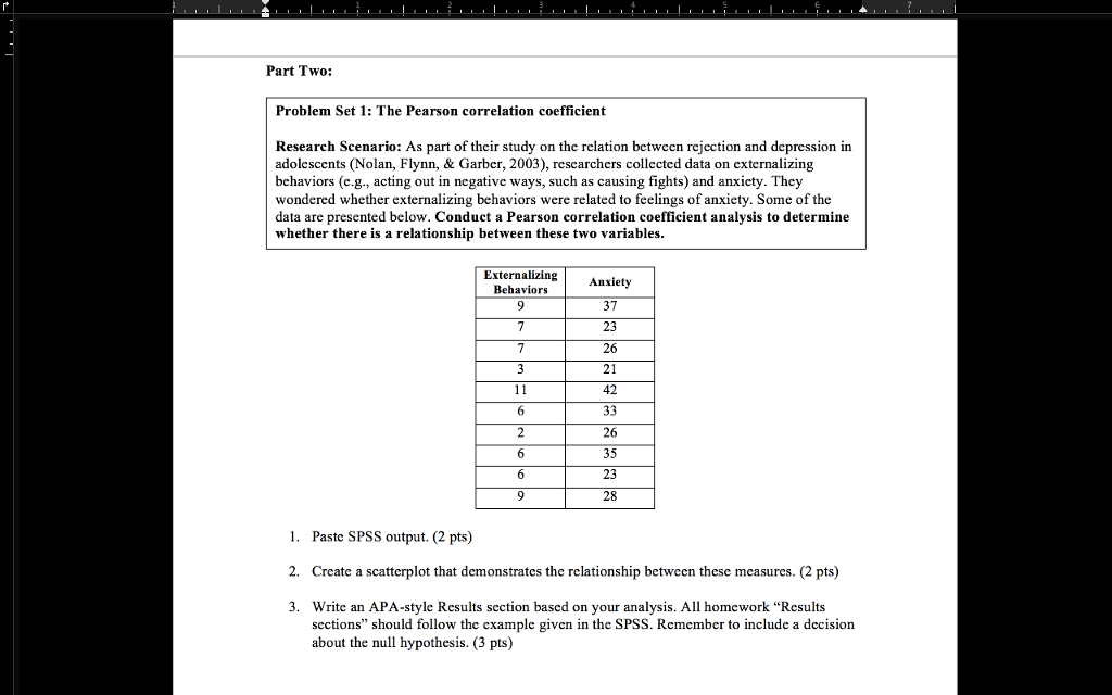 Solved Part Two Problem Set 1 The Pearson Correlation C