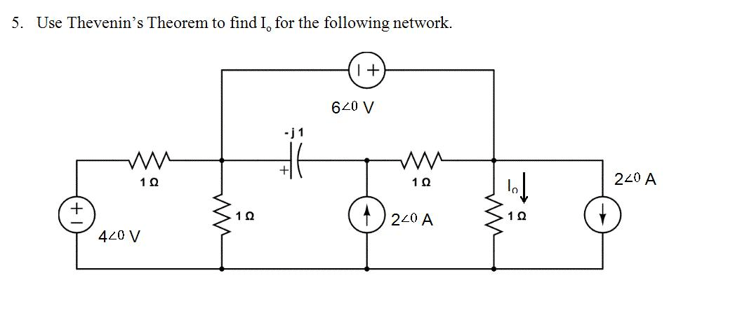 Solved: Use Thevenin's Theorem To Find Io For The Followin