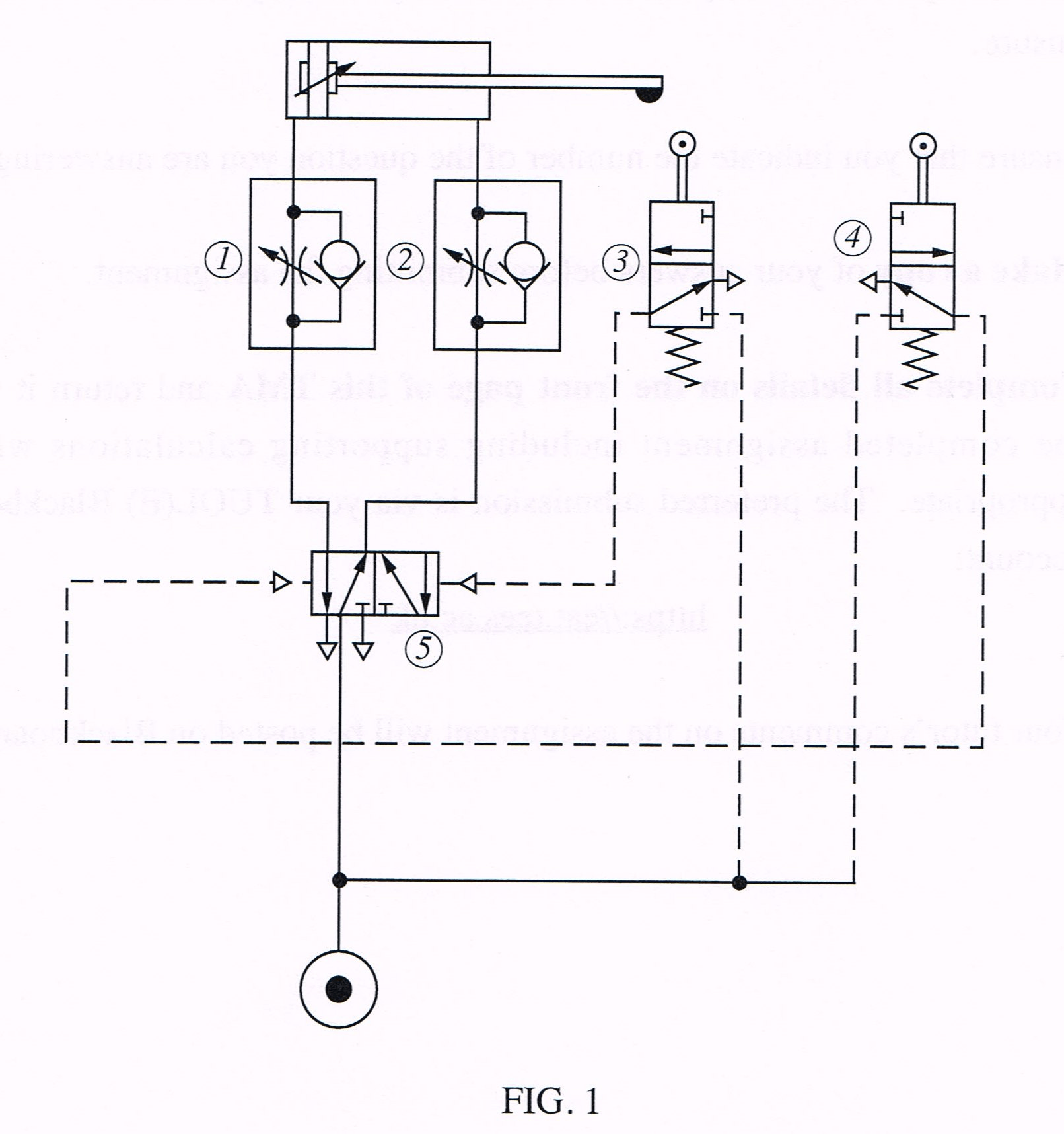 Solved: Fig 1 Shows A Pneumatic Circuit Diagram Used For A