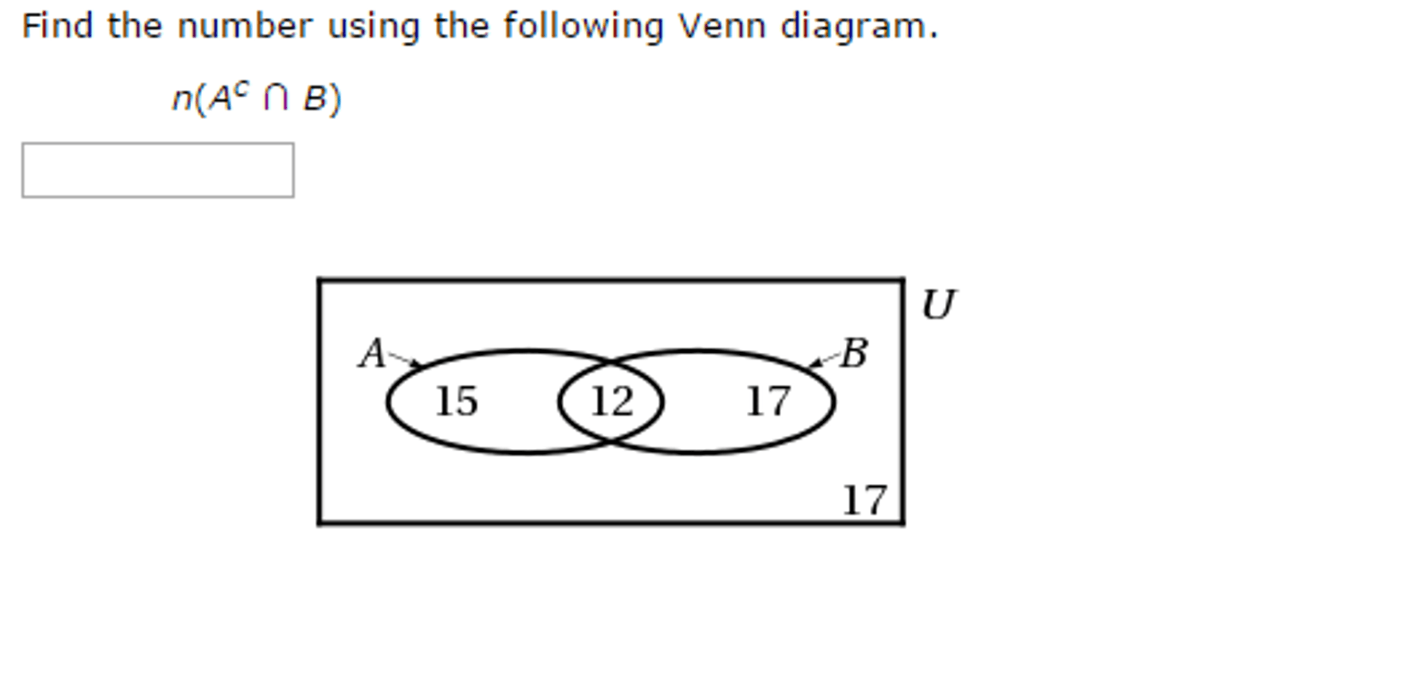 how to find the intersection in a venn diagram hotpoint electric stove wiring solved number using following