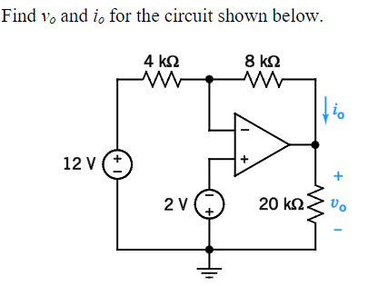 Solved: Find Vo And Io For The Circuit Shown Below. 0