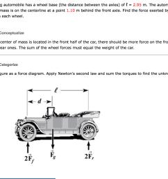a 1 525 kg automobile has a wheel base the distan [ 1024 x 782 Pixel ]