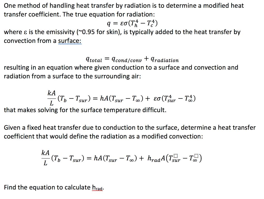 Convective Heat Transfer Equation Calculator