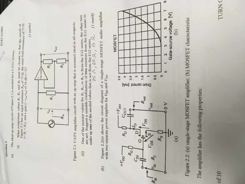 medium resolution of elec 113001 question 2 a the ideal op amp circuit of figure