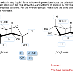 glucose generally exists in ring cyclic form a [ 2046 x 1238 Pixel ]